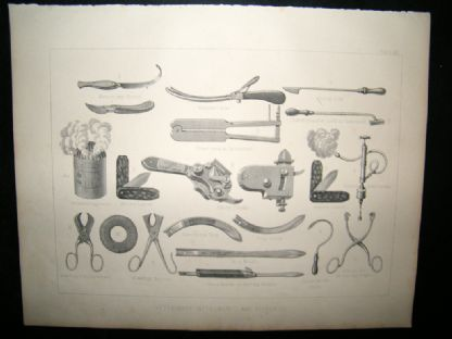 Miles Practical Farriery C1875 Print. Veterinary Instruments & Apparautus | Albion Prints